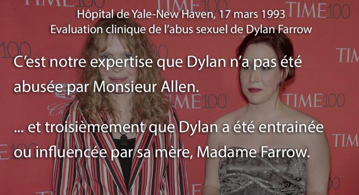Dylan Farrow: Le rapport du Yale-Hôpital de New Haven innocente Woody Allen