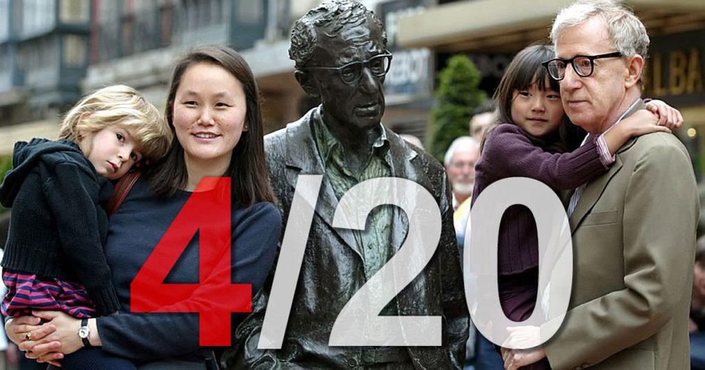 """4/20. Trois jours avant l'allégation d'abus sexuel, ayant appris que la relation amoureuse entre Woody Allen et Soon-Yi se poursuivait, Mia Farrow a plaidé pour """"trouver un moyen de l'arrêter""""."""