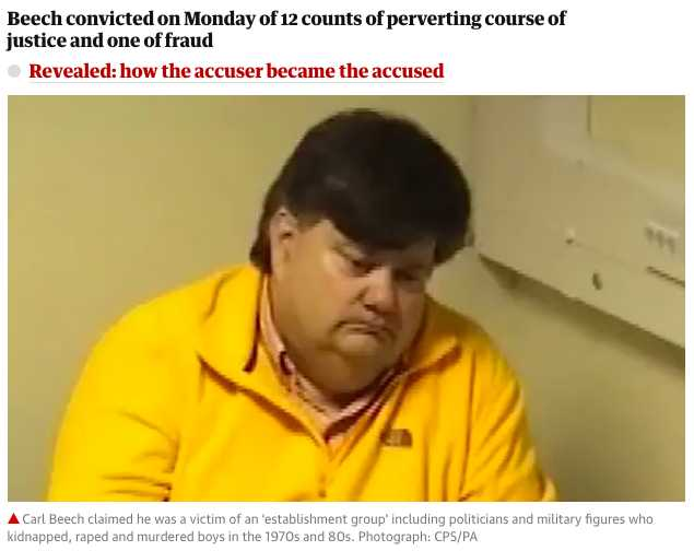 Carl Beech, VIP paedophile ring accuser, jailed for 18 years