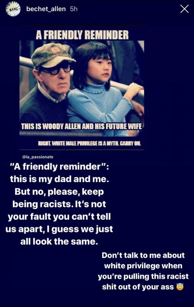 Betchet Allen and Woody Allen